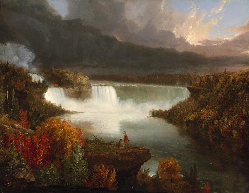 Thomas Cole painting of Niagara Falls, 1830