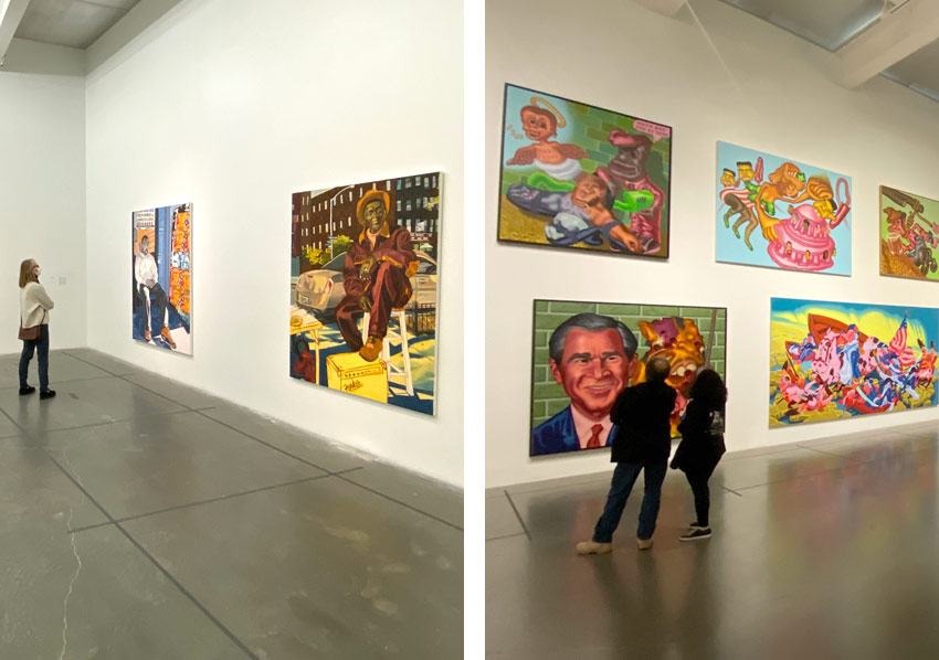 Jordan Casteel and Peter Saul at the New Museum