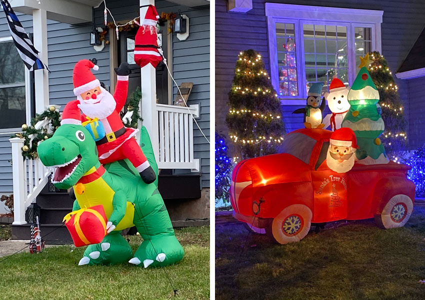 unusual inflatable Santa Claus figures in Belleville NJ