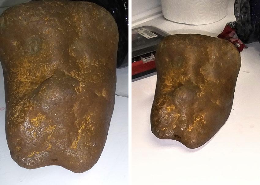 face effigy found in Savannah, Tennessee