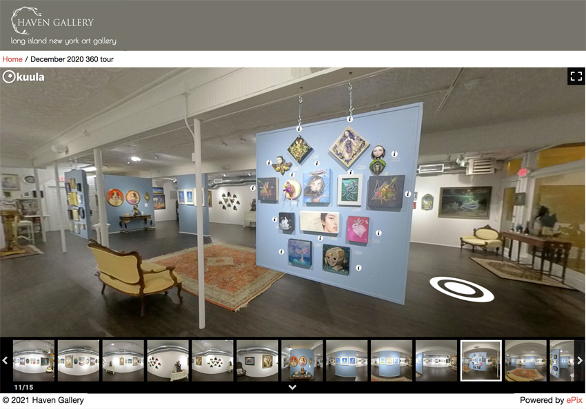 Virtual tour of Haven Gallery in Long Island, New York