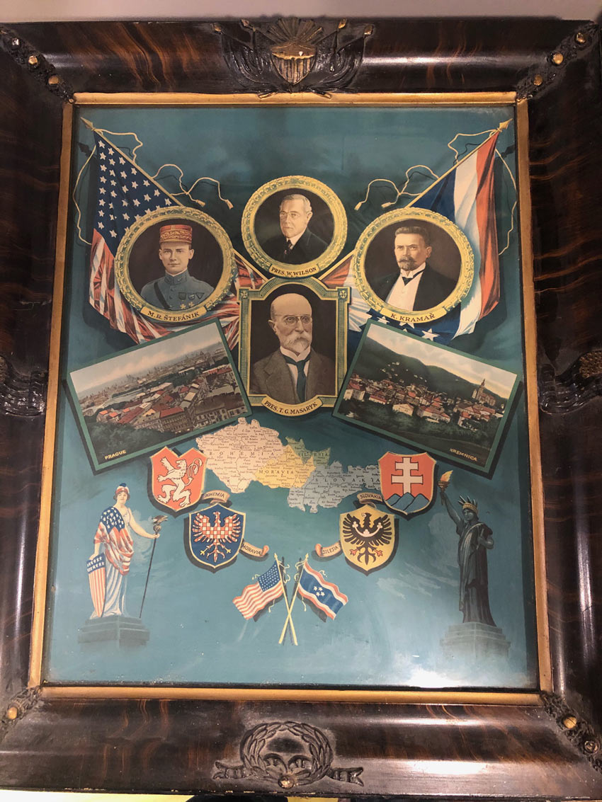 1918 Czech print Woodrow Wilson