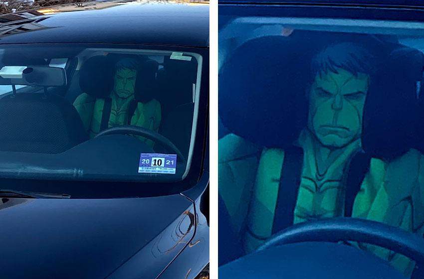 Incredible Hulk Car Seat