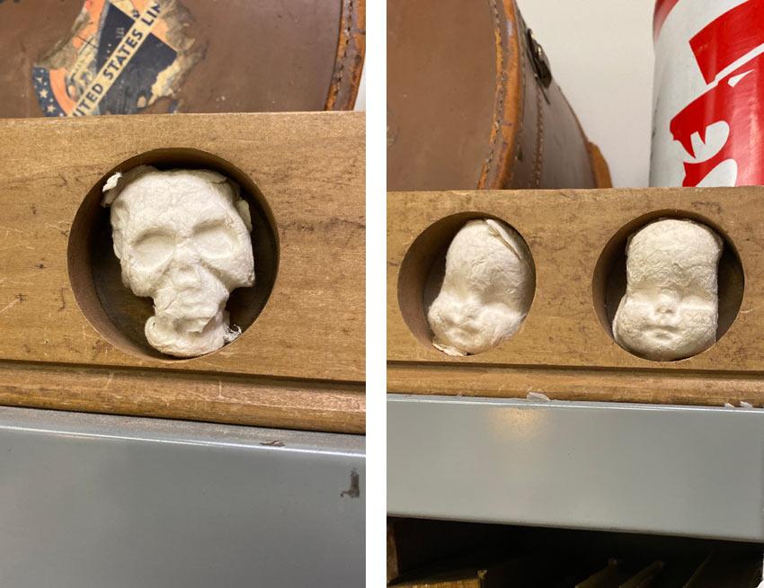baby heads and skull art