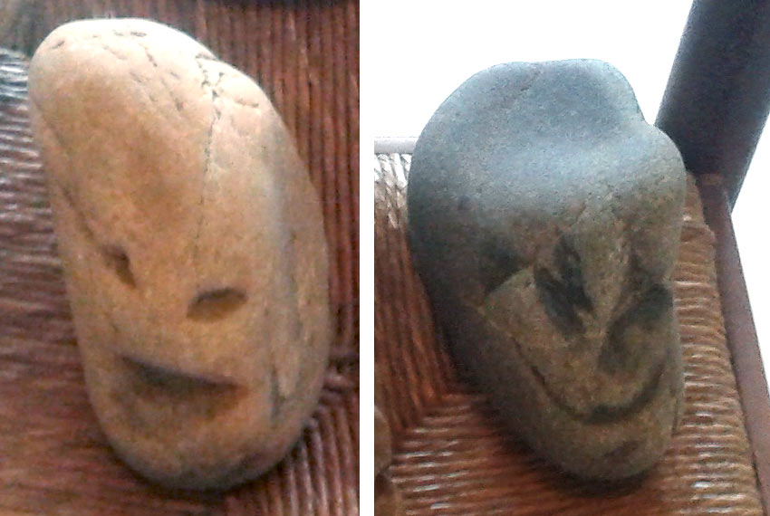 face effigy found in the South of France Basque Country
