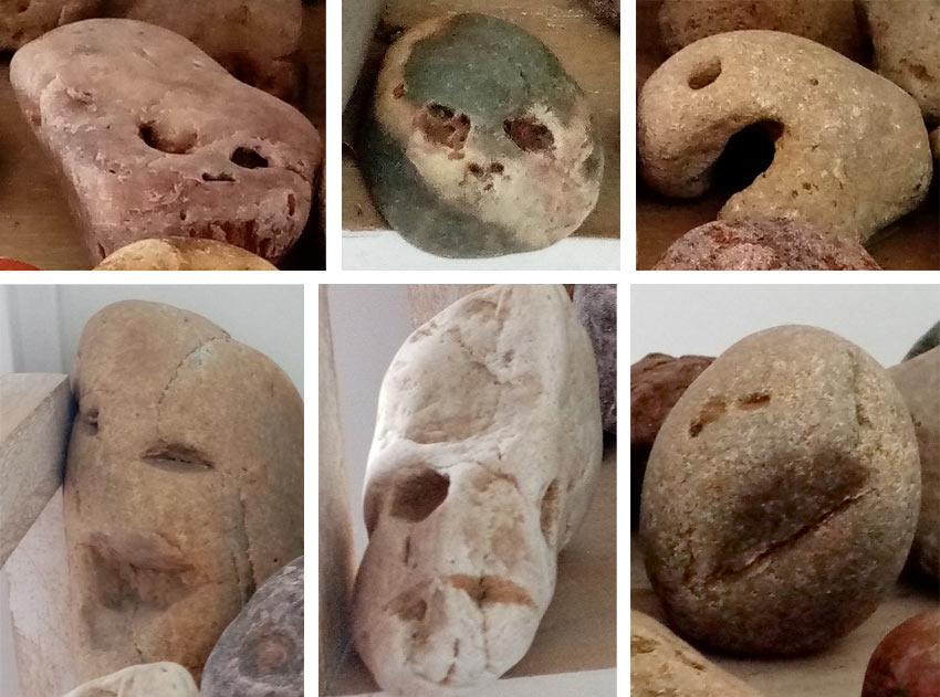 faces found in french stones