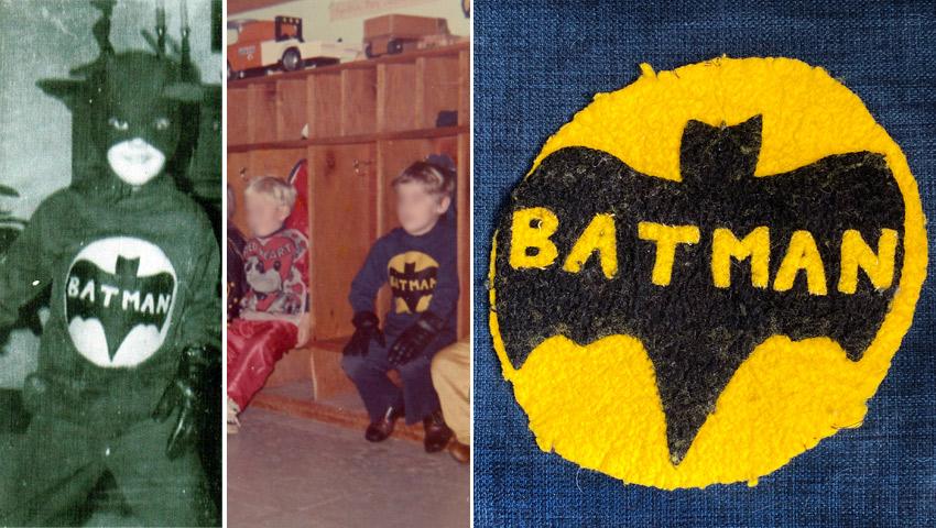 Handmade Batman costume from the 1970s